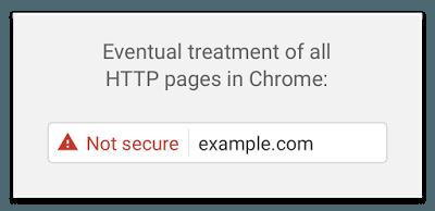 Google Chrome HTTP Warning