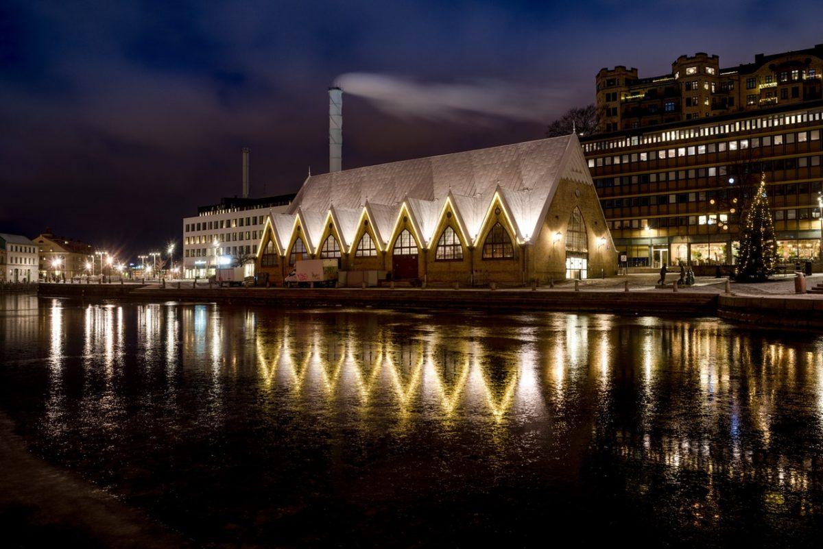 Feskekörka i Göteborg på natten