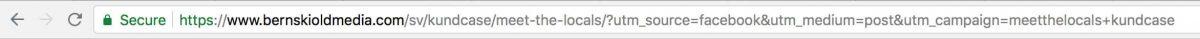 UTM-taggar är synliga i URL:en